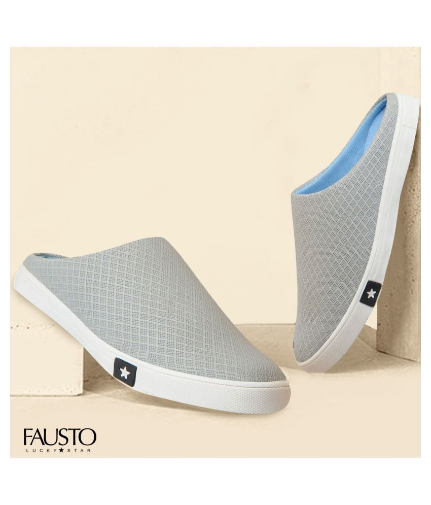 Fausto Lifestyle Gray Casual Shoes