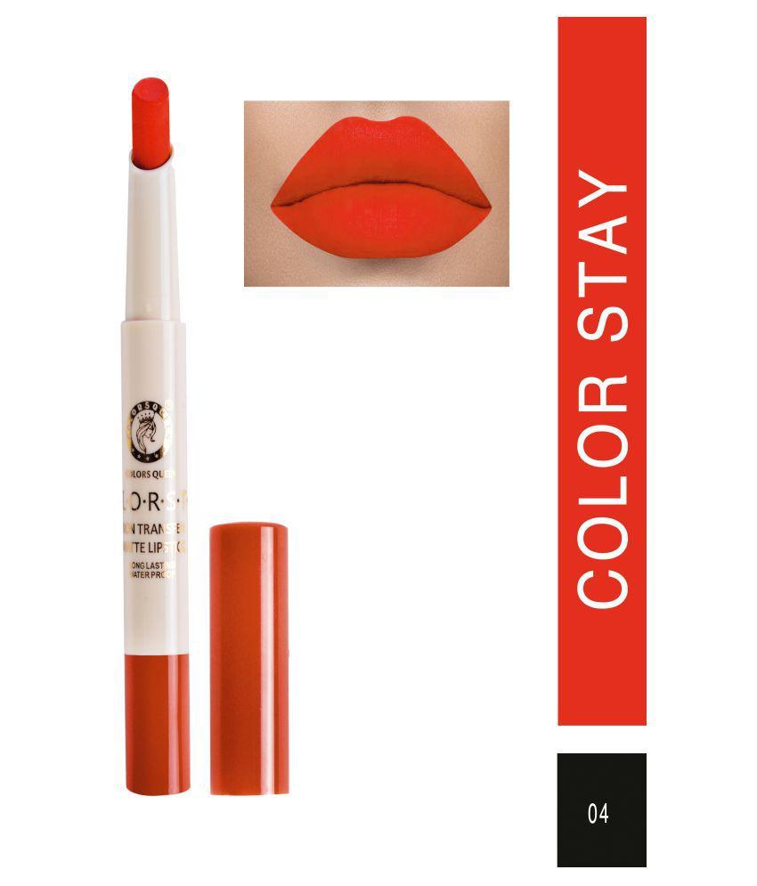 Colors Queen Creme Lipstick Coral Orange 7 g