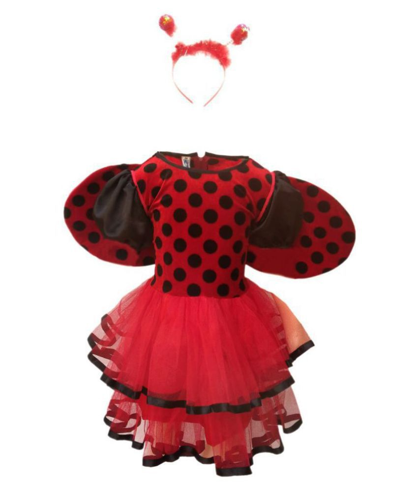KFD Lady Bird fancy dress for kids,Insect costume for Annual function/Theme Party/Competition/Stage Shows Dress