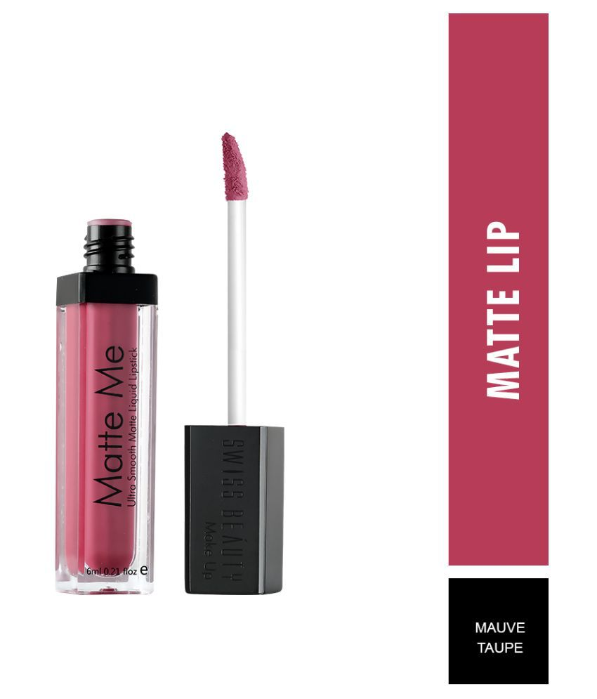 Swiss Beauty Matte Liquid Lipstick (Mauve Taupe), 6ml