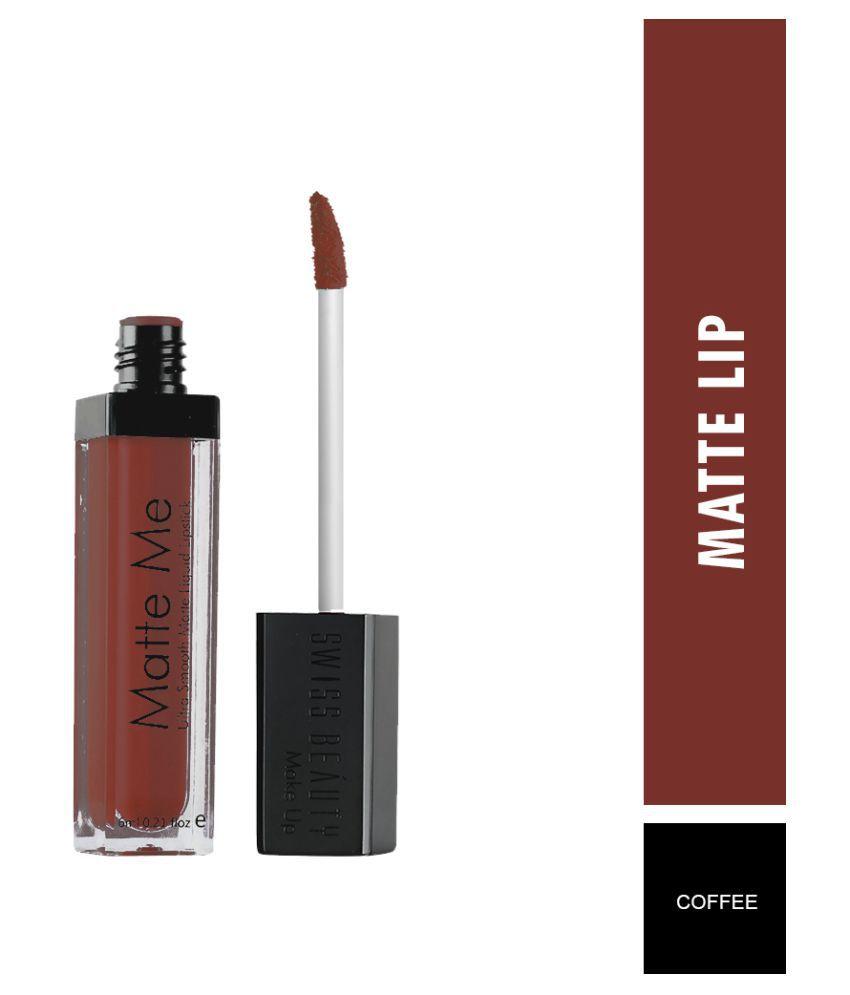 Swiss Beauty Matte Liquid Lipstick (Coffee), 6ml