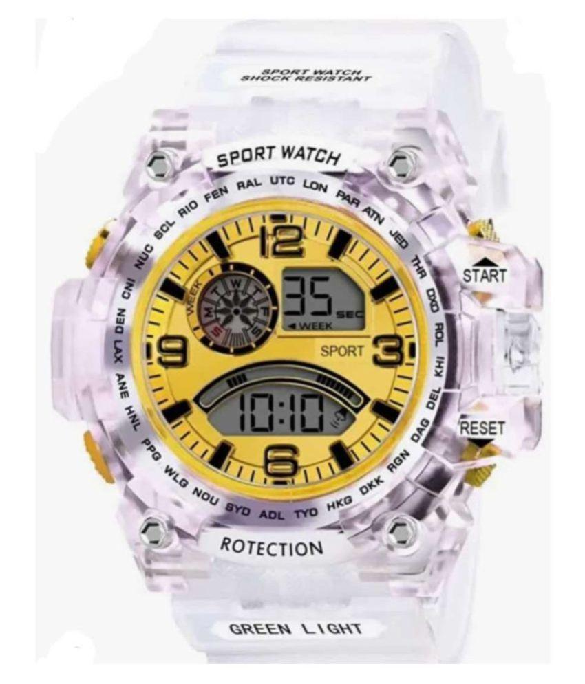 ENDEAVOUR digital yellow PU Digital Men's And Boy's Watch
