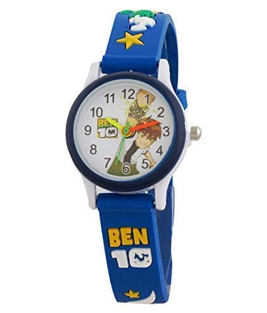 Jingjop Analog Watch for Boys and Girls  Blue watch