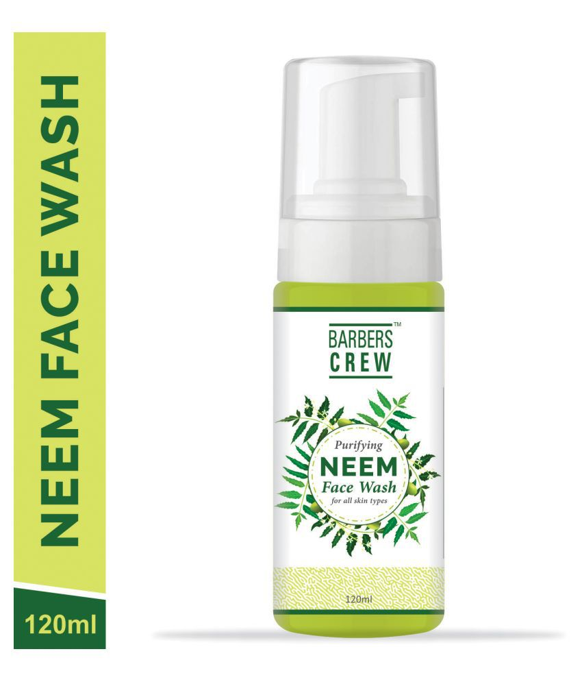 Barbers Crew Neem Face Wash For Skin Men All Type Pimples Remove & Glowing Skin For Men- Face Wash 120 mL
