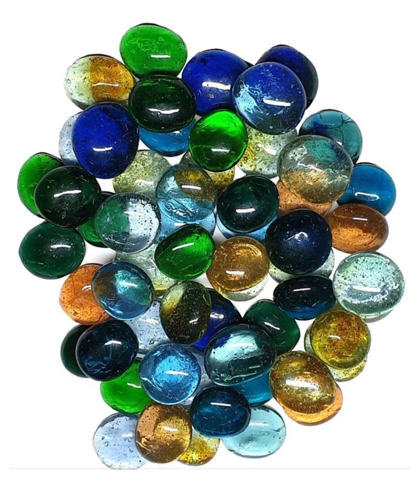 DS1 Decorative Pebbles Glass (Multicolor ) for garden decor (300 Gm)