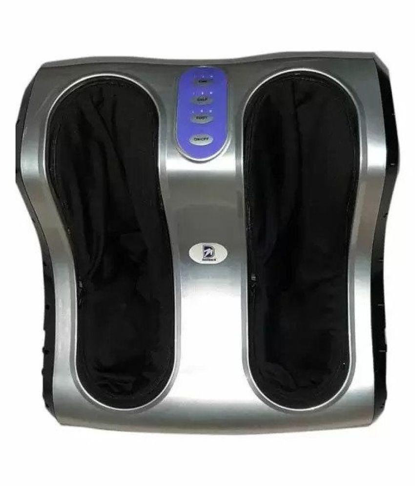 Deemark Leg & Foot and Calf Massager for Pain Relief and Relaxation (Black & Silver)
