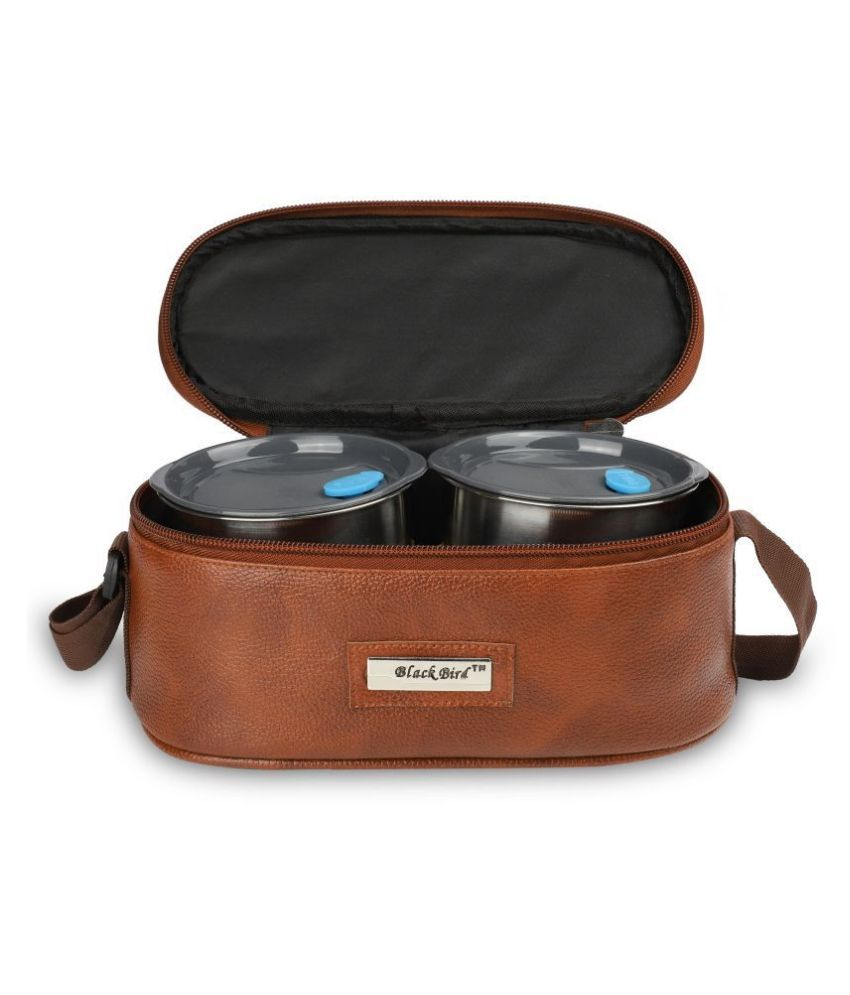 Black Bird Assorted Faux Leather Lunch Box