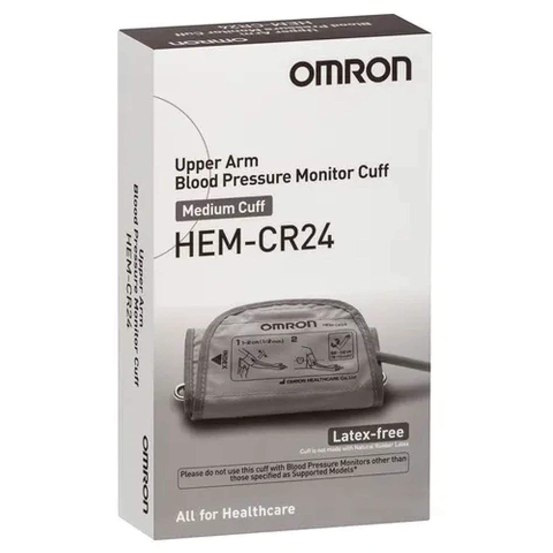 Omron Upper Arm Blood Pressure Monitor Medium Cuff - Grey Hem-Cr24