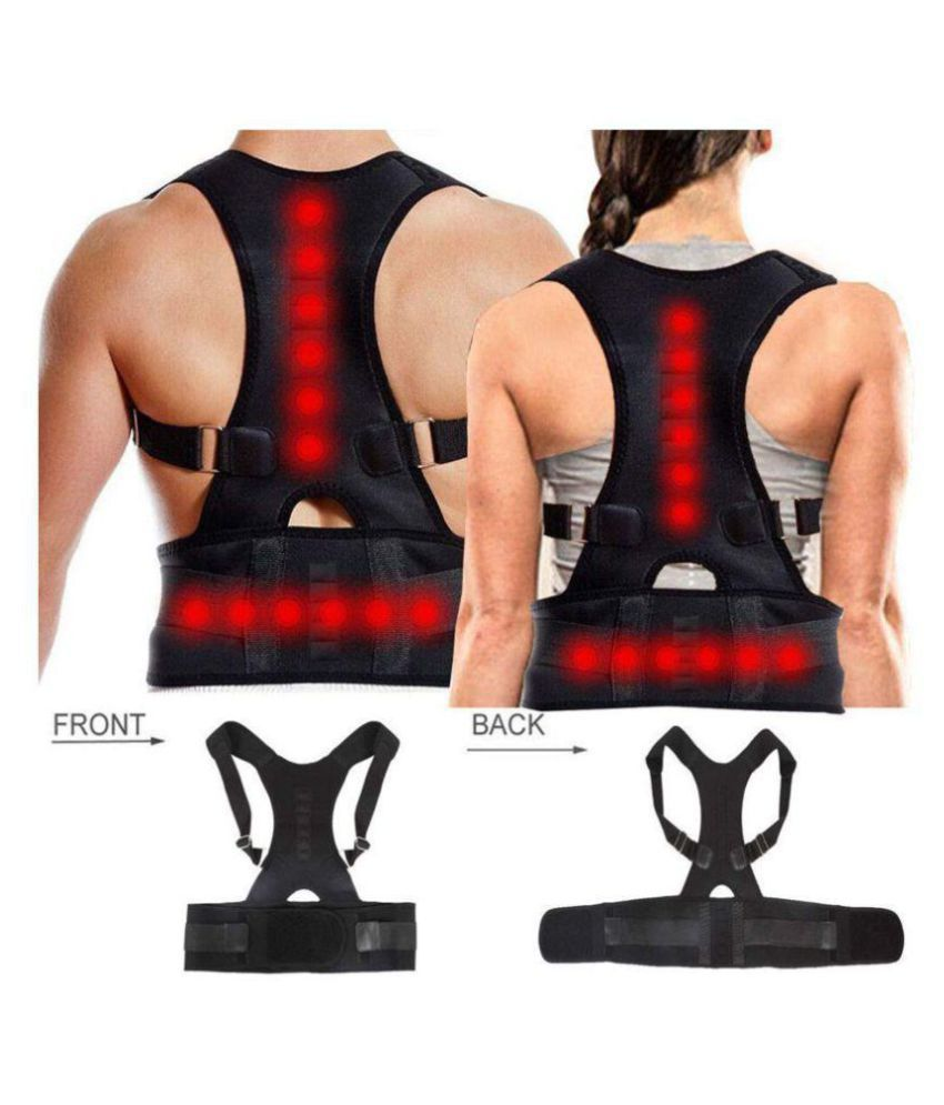 SELVA FRONT Posture Spine Magnetic Lumbar Correction Belt XS