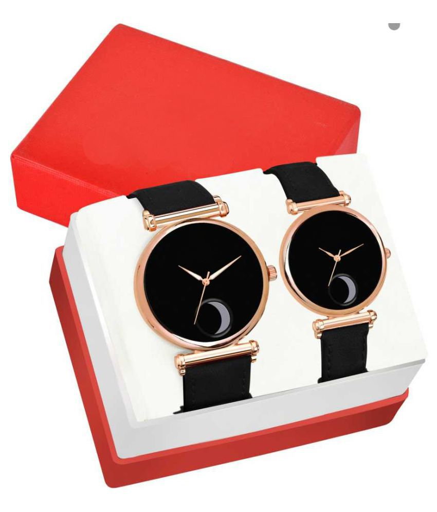 HERITA ENTERPRISES Moon Designed For Men And Women Couple Watch Combo Analog Watch - For Couple