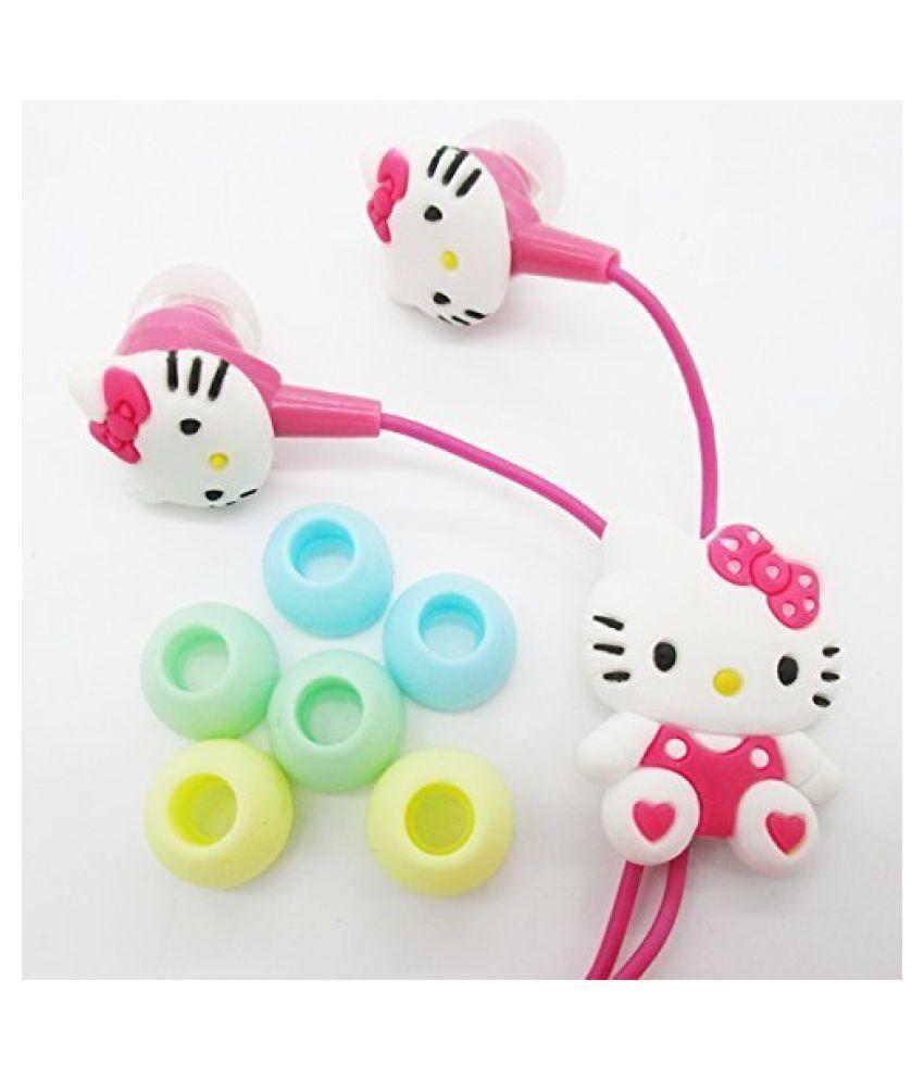 Bingo Kitty Earphone for kids with 3 Earplug In Ear Wired Without Mic Headphones/Earphones