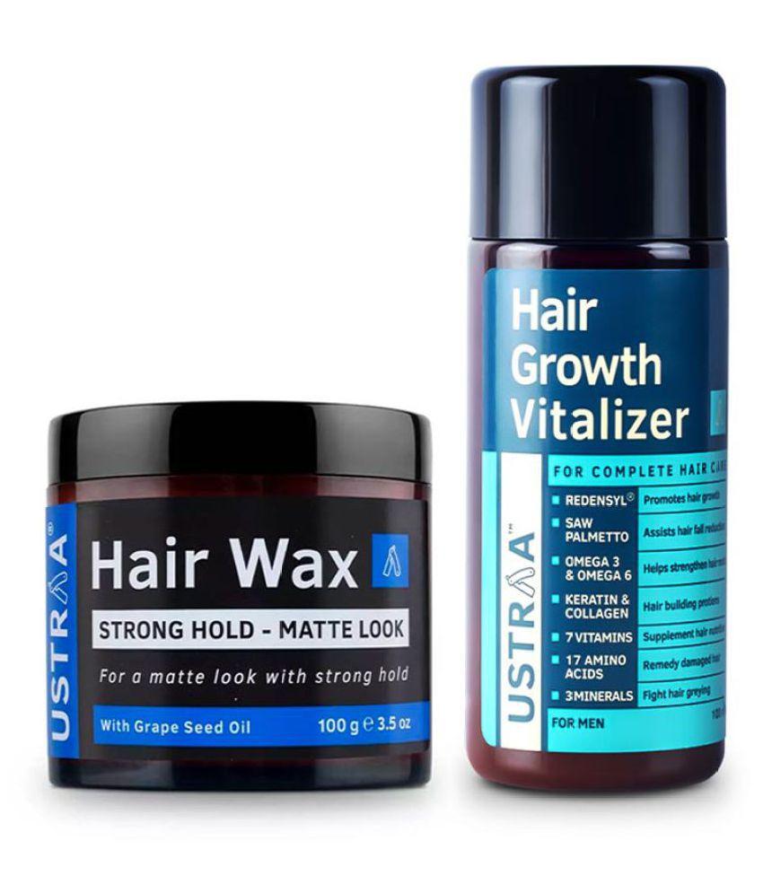 Ustraa Hair Growth Vitalizer- 100ml and Hair Wax Matt Look- 100g