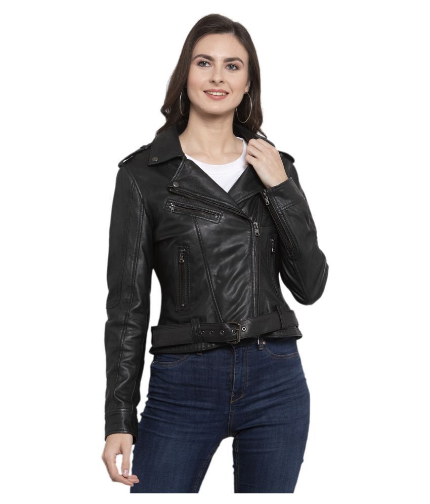 Beaver Leather Black Biker
