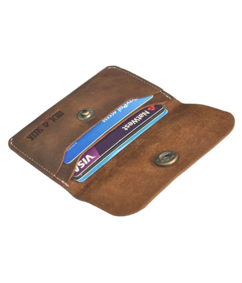 Hide&Sleek Genuine Leather Bi-fold Credit Card Holder Wallet