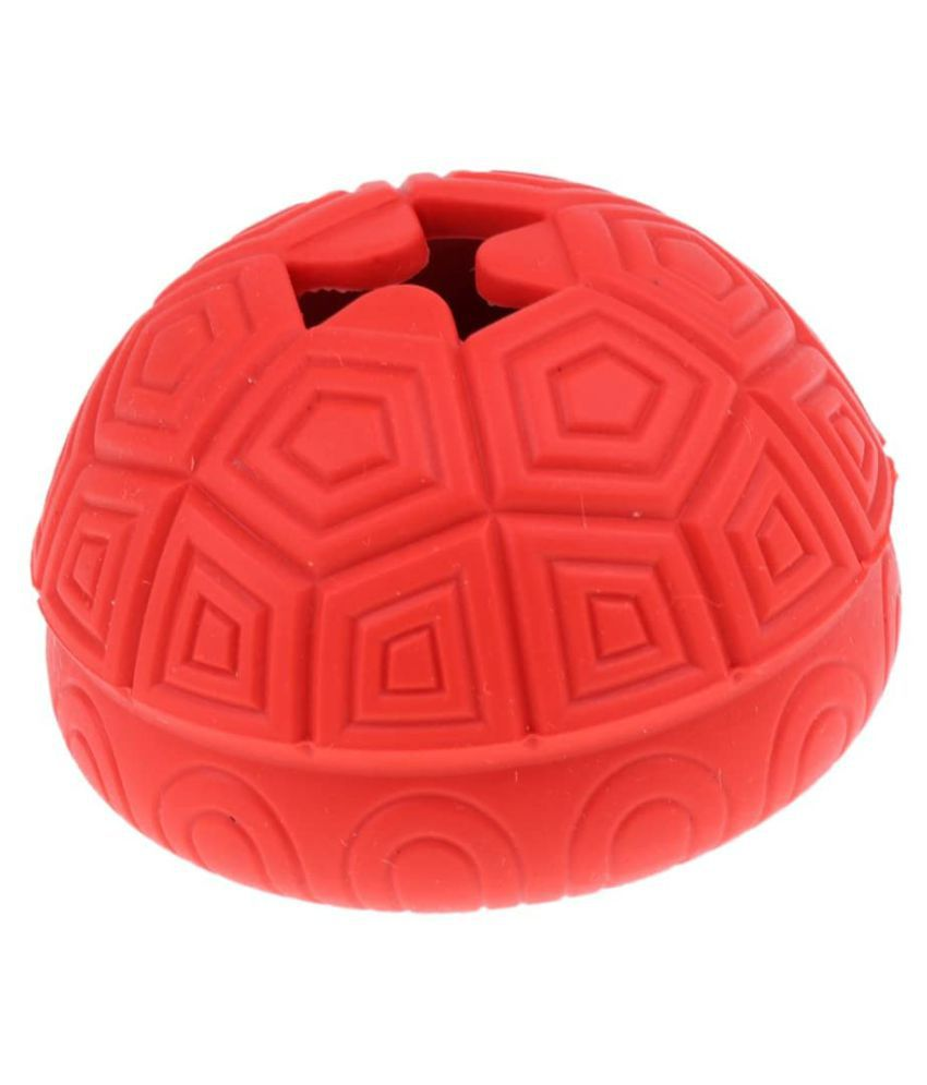 Emily Pets Funny Dog Toy Puppy Leakage Chew Food Ball Turtle Shell Shape Non-Toxic Rubber Tooth Cleaning Balls Food Dispenser For Dog Cat And Puppies