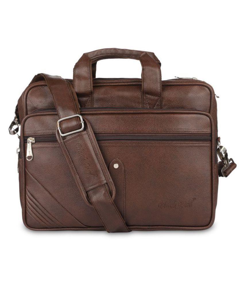 Blackbird na Brown Synthetic Office Bag