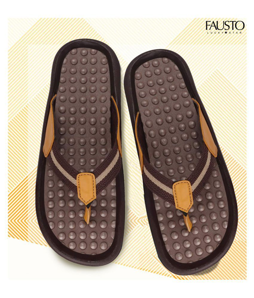 Fausto Brown Daily Slippers