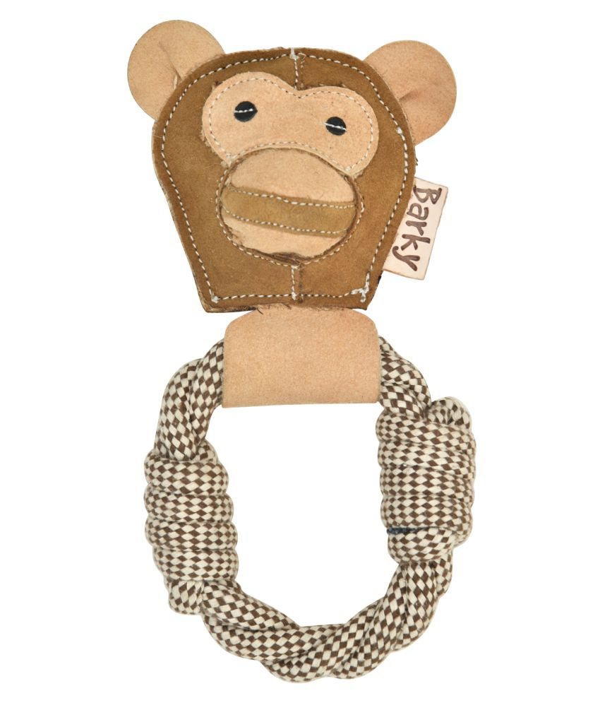 BARKY Pet dog Chewable Monkey ring Toys for your loveable pets to play always