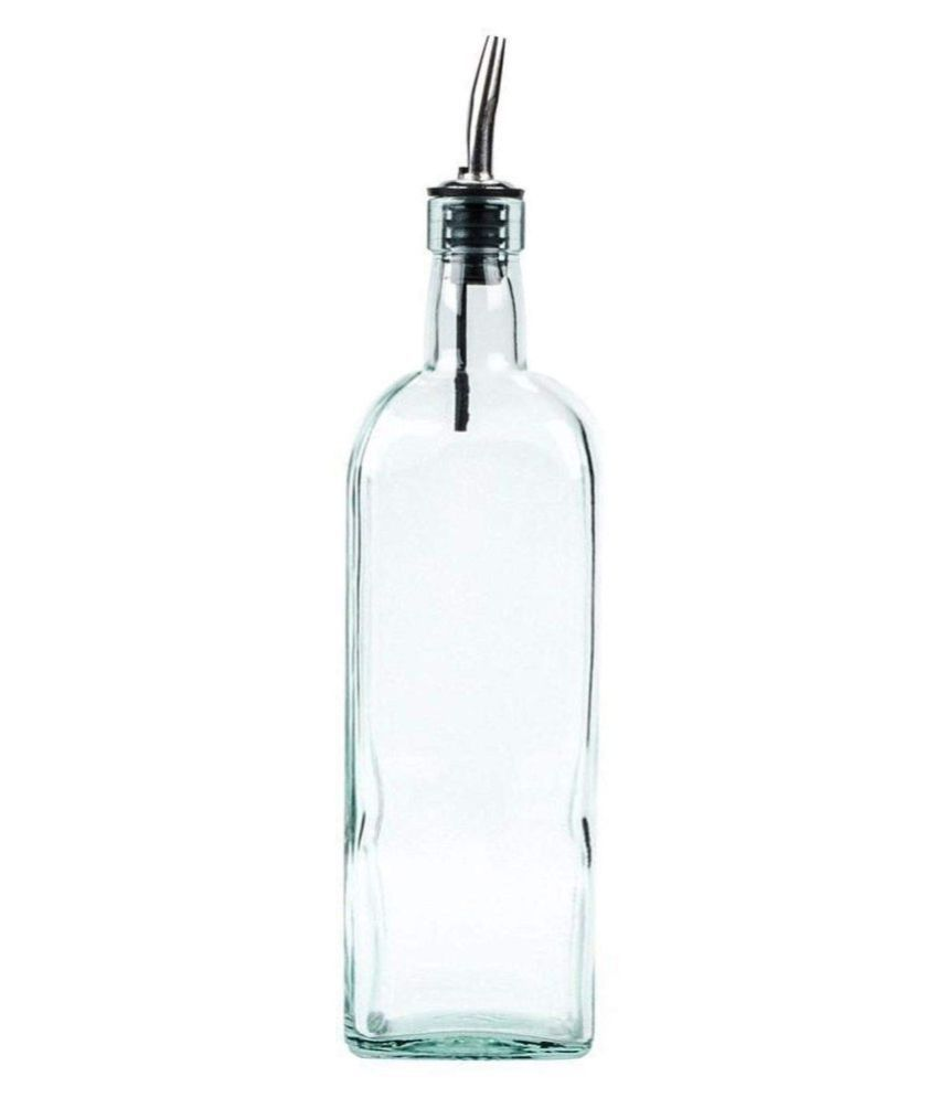 Dynore Glass Oil Container/Dispenser Set of 2 1000 mL
