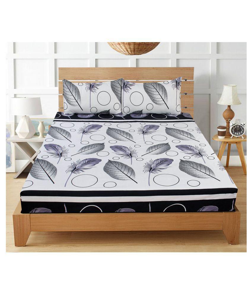 Home Saaj Microfibre Double Bedsheet with 2 Pillow Covers ( 220 cm x 220 cm )