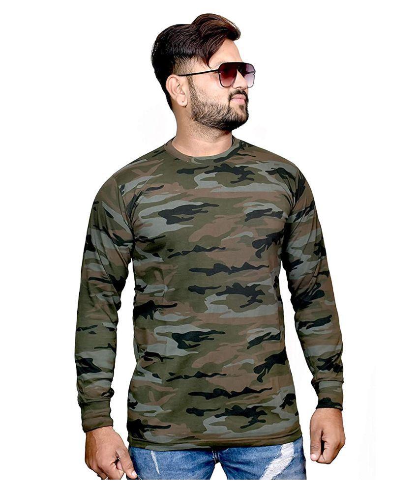 DESERT WARRIORS Military Green Cotton T-Shirt