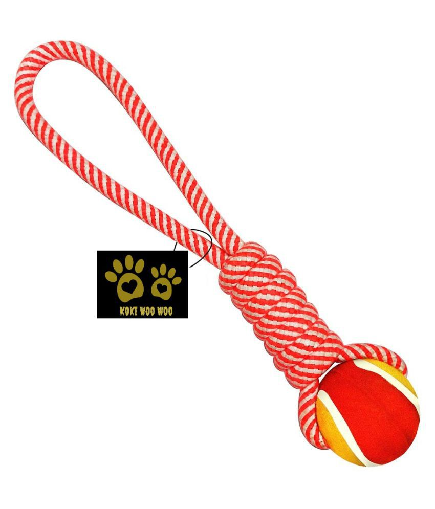 KOKIWOOWOO Rope toy with Ball for Dogs