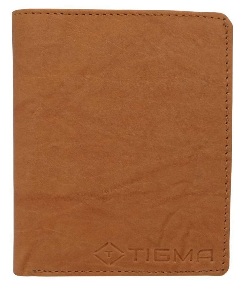 TIGMA Leather Tan Casual Regular Wallet