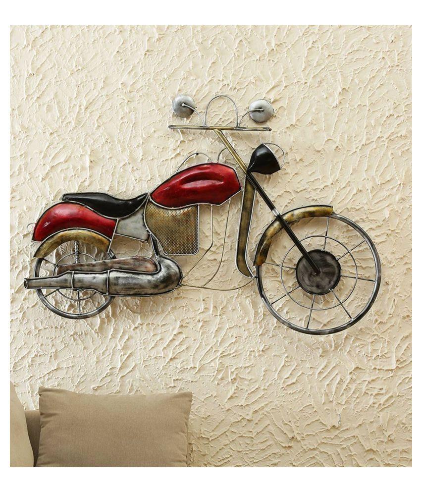 microtex Iron Big  bike Designer Shape Decoratives Panel Red - Pack of 1
