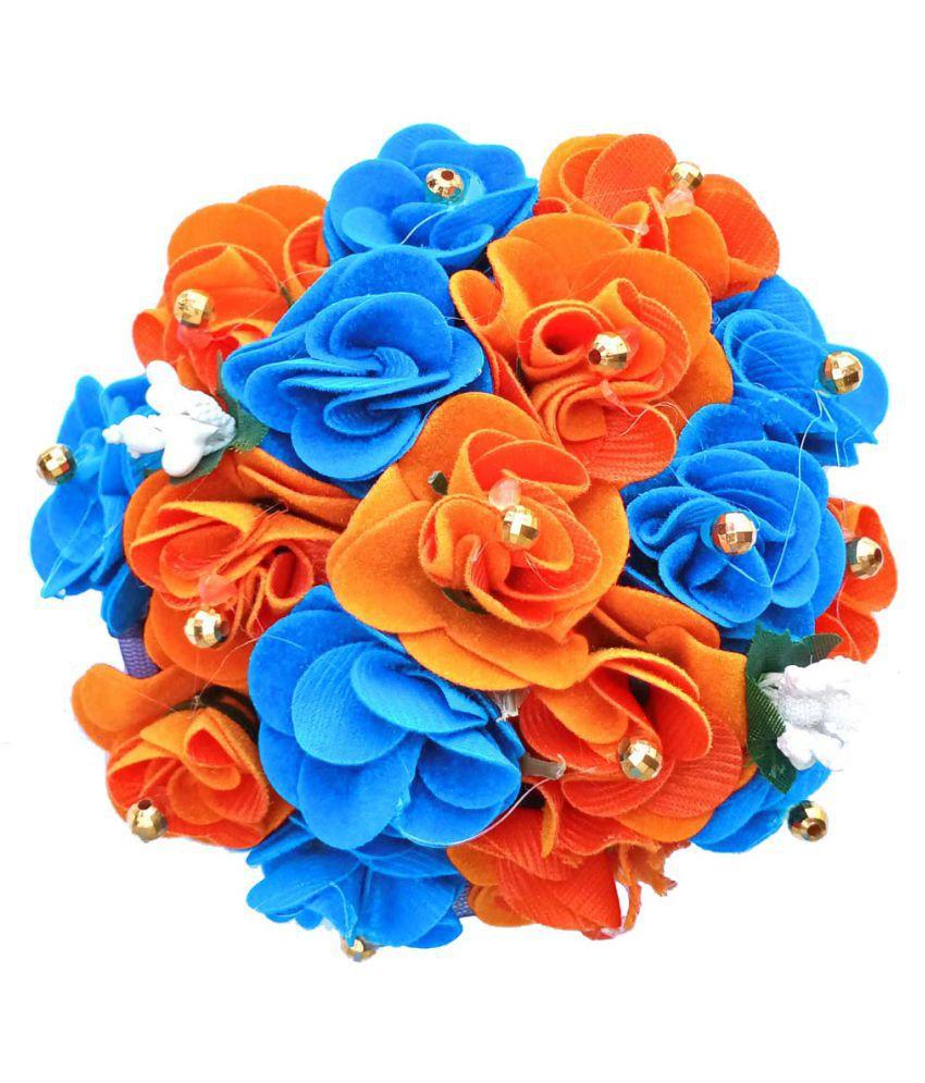 syraa Hot Fusion Hair Extension Colorful Floral Designer Bun