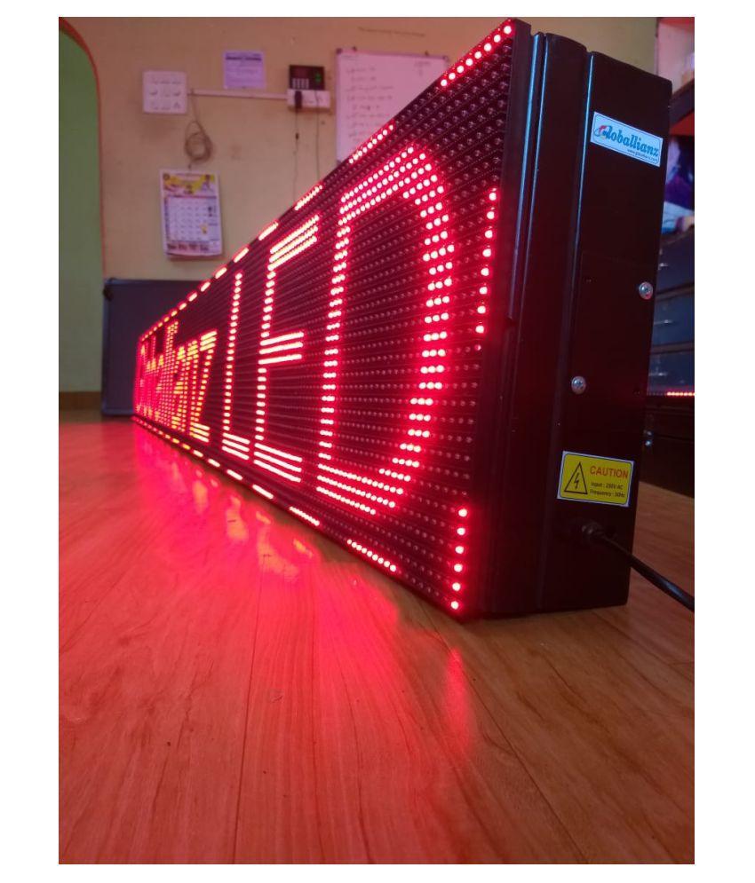 Digital LED Scrolling Display Board P10 Single Color Red  4Feet X 6 Inch