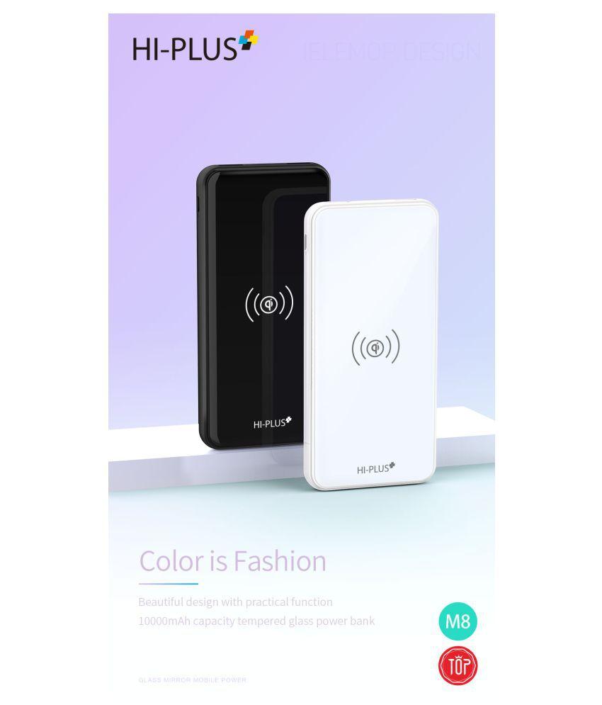 HI Plus HT10P WIRELESS 10000  mAh Li Polymer Power Bank White