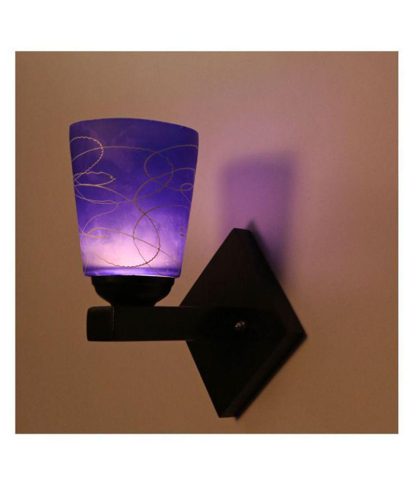 AFAST Decorative Wall Lamp Light Glass Wall Light Blue - Pack of 1