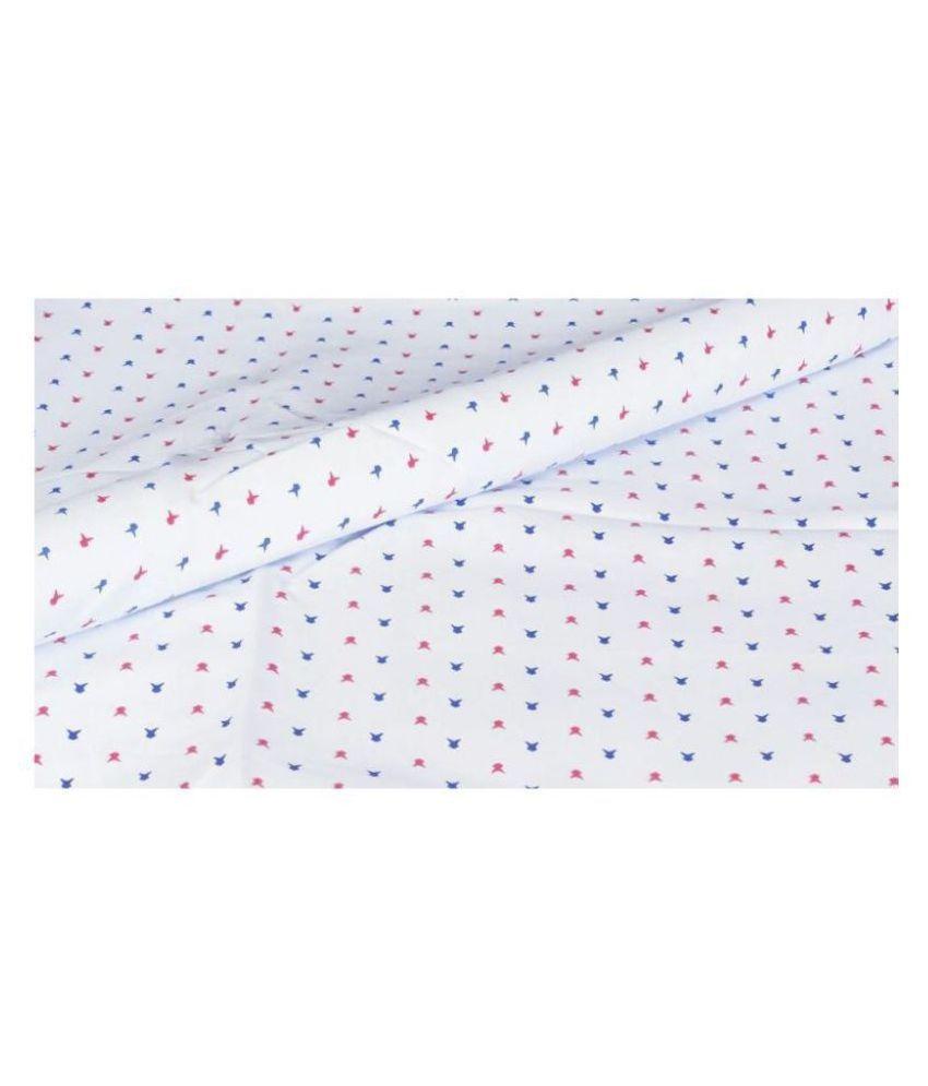 Makhanchor Grey 100 Percent Cotton Unstitched Shirt pc Single