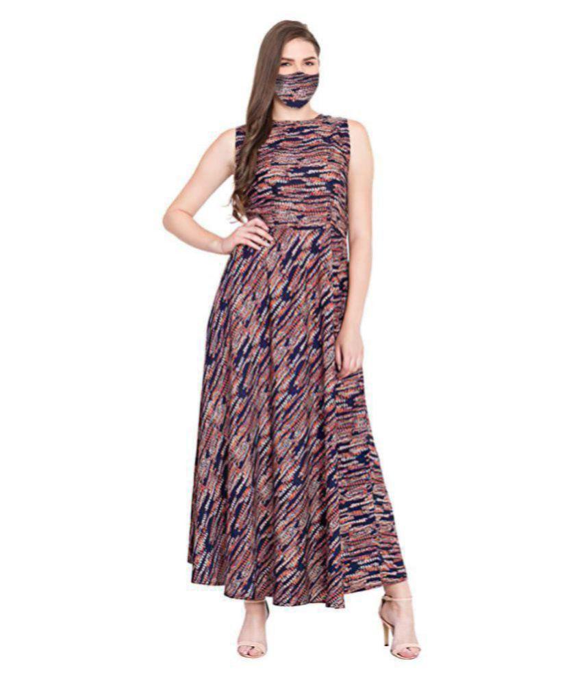 ALIMS Crepe Multi Color A- line Dress