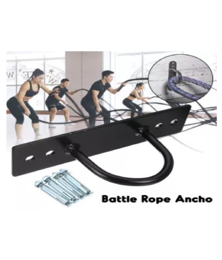 A4T Battle Rope Wall /Ceiling Bracket Anchor Bracket Hook for Elastic Shoulder Strap Body Weight Strength Training Yoga Swings Hooks Boxing Equipment