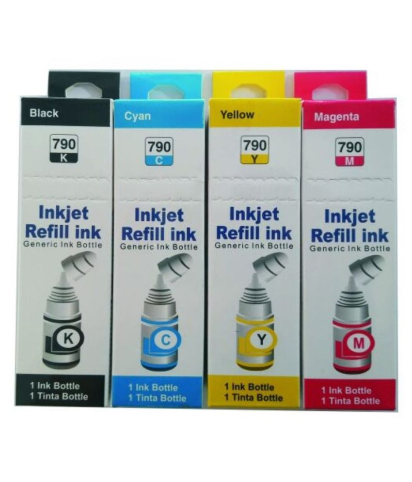 Kavox 790 G3000 Canon Multicolor Pack of 4 Ink bottle for Canon Ink Printers