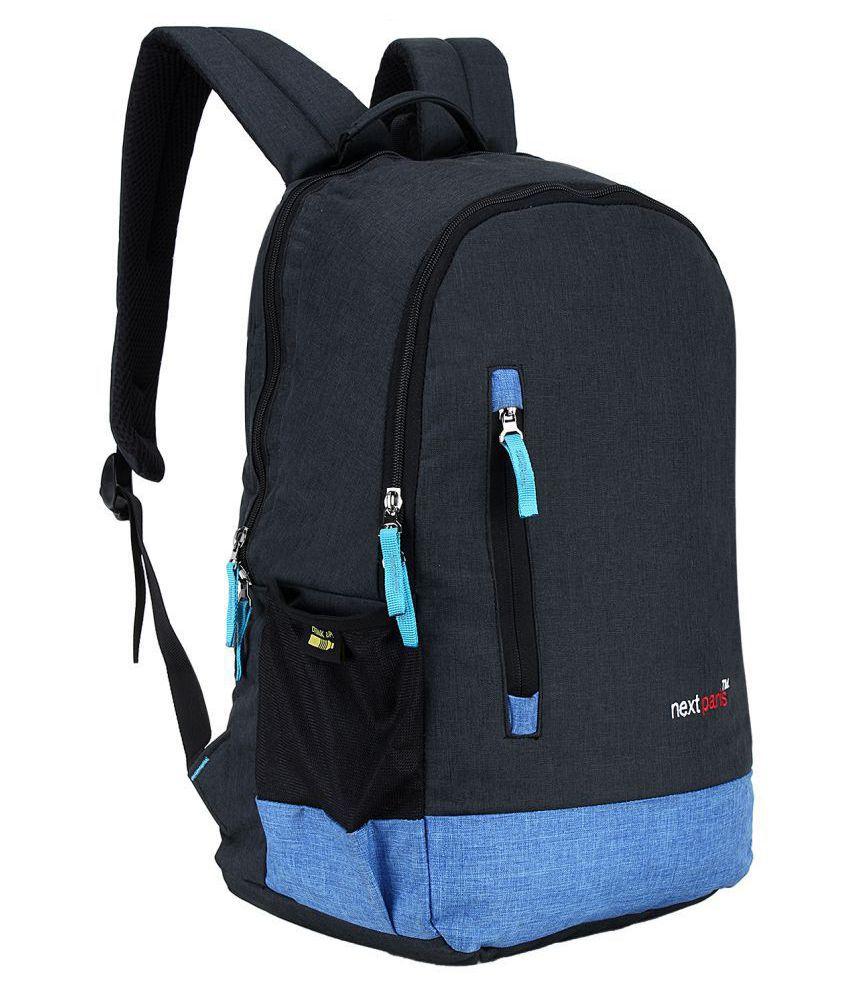 Next Paris Black Polyester College Bag