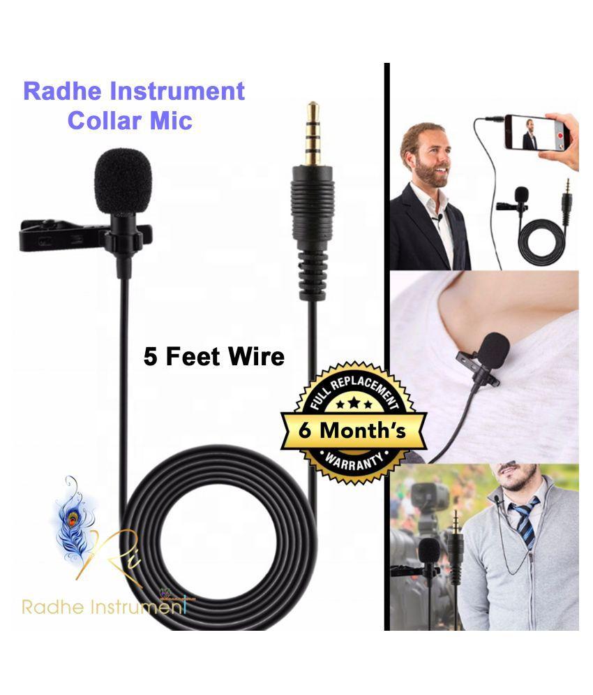 Radhe Instrument Collar Mic Lapel Microphone