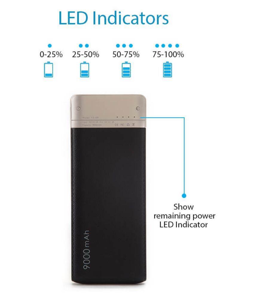 Bluei Ts x9 9000  mAh Li Polymer Power Bank Assorted