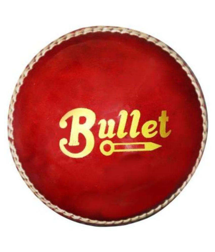 PSE Priya Sports Leather Cricket Ball -Red