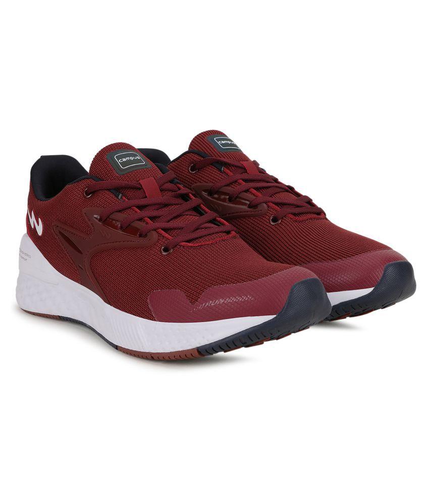 Campus SIMON PRO Burgundy Running Shoes