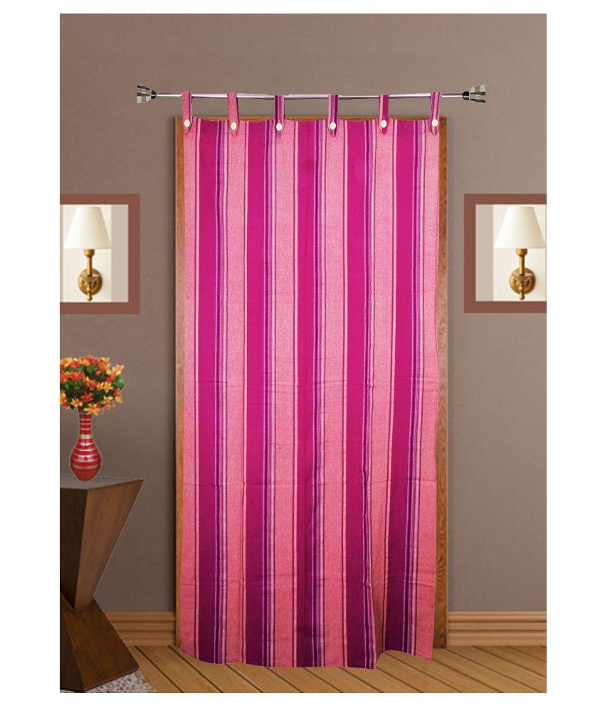 HOMEFLY Single Door Blackout Room Darkening Loop Cotton Curtains Purple