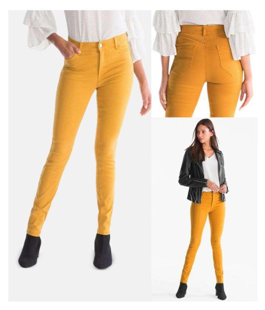 Malachi Denim Lycra Jeans - Yellow