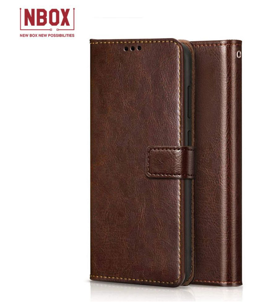 Samsung Galaxy On5 Flip Mobile Cover by NBOX   Brown