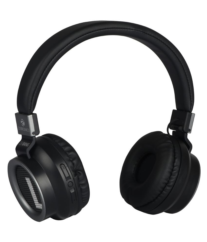 Zebronics Zeb Bang Foldable Wireless Bluetooth Headphone Comes with 40mm Drivers, AUX Connectivity, Call Function, 16Hrs* Playback time  amp; Supports
