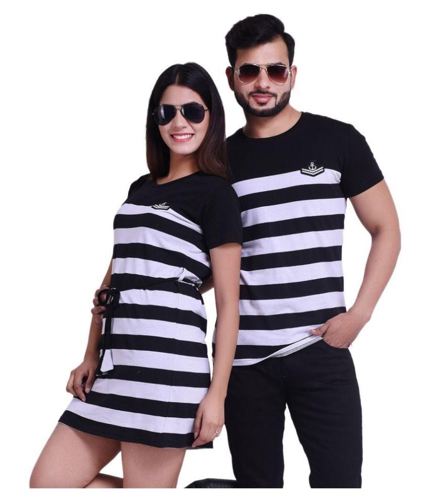 COUPLESTUFF.IN Black Cotton blend Couple Combo