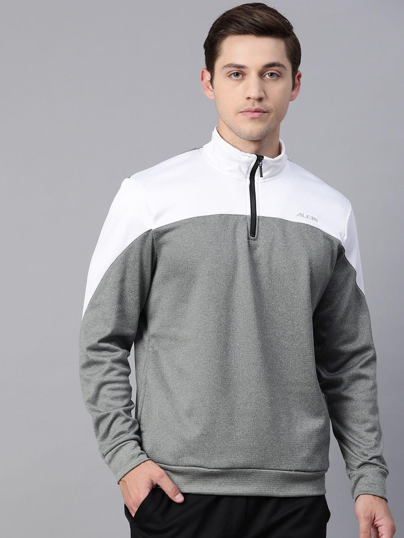 Alcis Grey Polyester Sweatshirt
