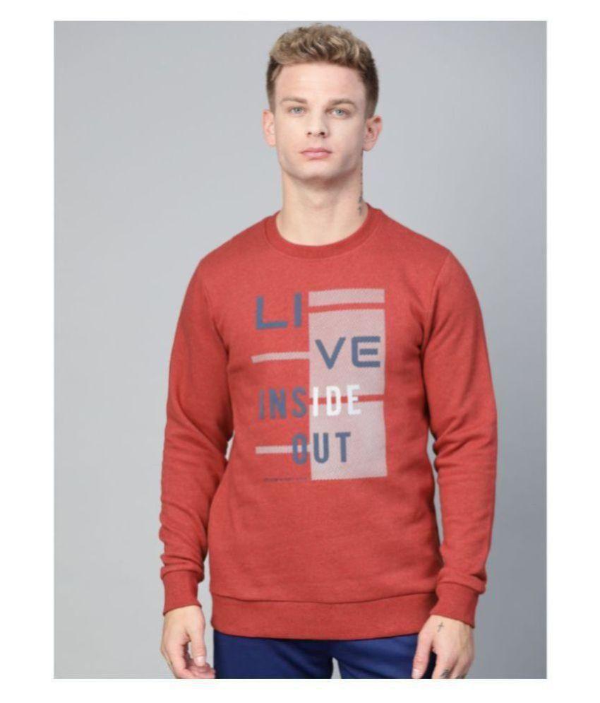 Alcis Orange Cotton Sweatshirt Single Pack