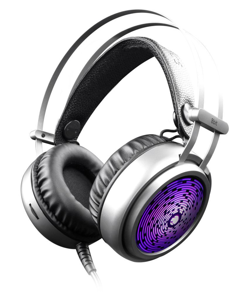 Zebronics 8 bit Gaming Headphone Over Ear Wired With Mic Headphones/Earphones