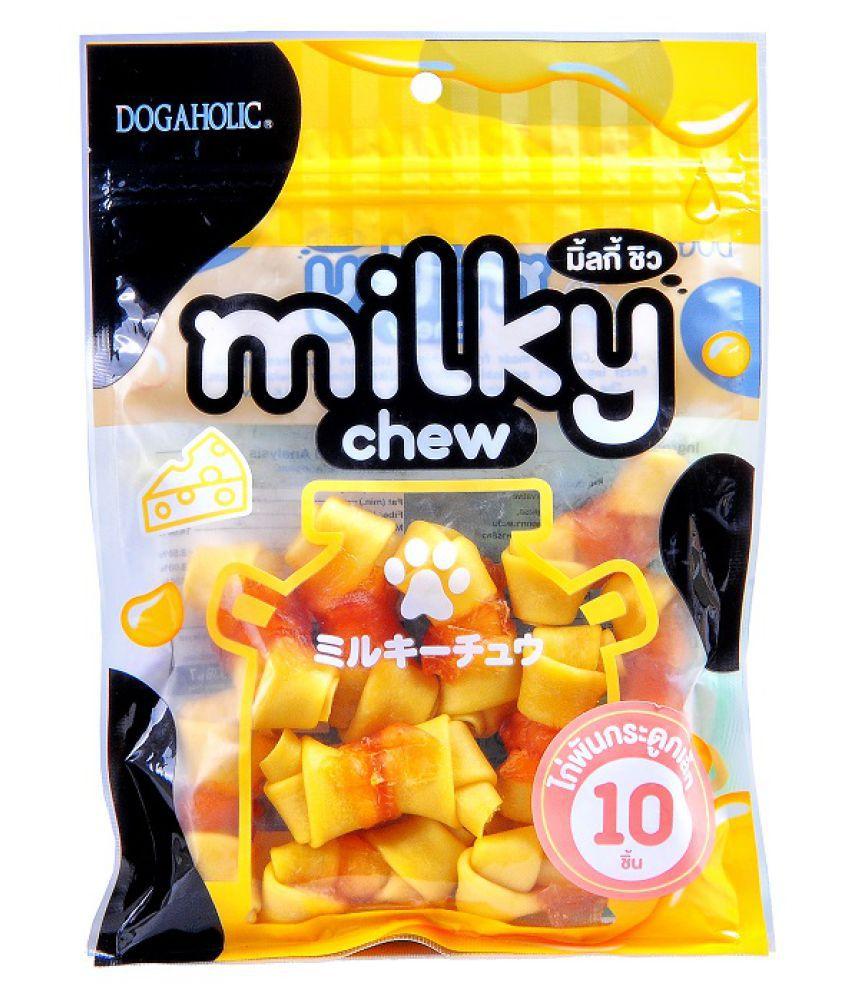 Dogaholic Milky Chew Cheese & Chicken Bone Style 10 Pieces Dog Treat, 160 Gram